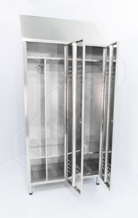 stainless steel 2 tier changing room lockers